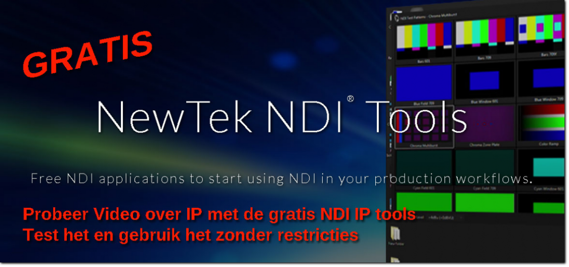 Newtek video over IP NDI