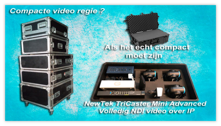 regie set to go compact tricaster mini