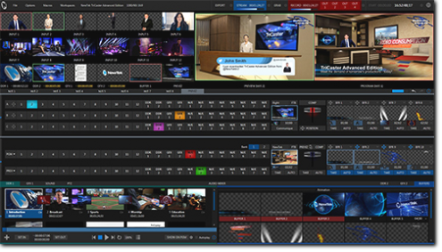 gebruiker interface tricaster mini